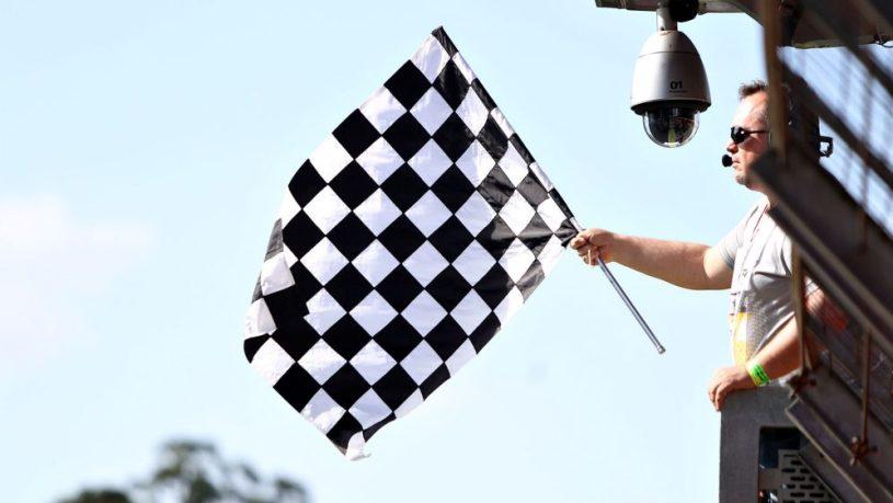 Bandera a cuadros para la Fórmula 1
